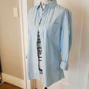 Baby blue button down shirt